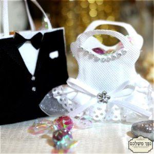 תיק חתן כלה מרהיב - מזכרת לאורחים בחתונה מתנה לאורחים בחתונה מזכרות לאורחים בחתונה מזכרות לאירועים