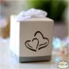 קופסת ריבוע עם לבבות - מזכרת לאורחים בחתונה