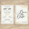 פרחי זהב - הזמנה לחתונה - נופך משלכם